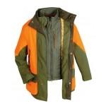 Veste-chasse-bronze-et-orange-fluo-rambouillet-de-club-interchasse