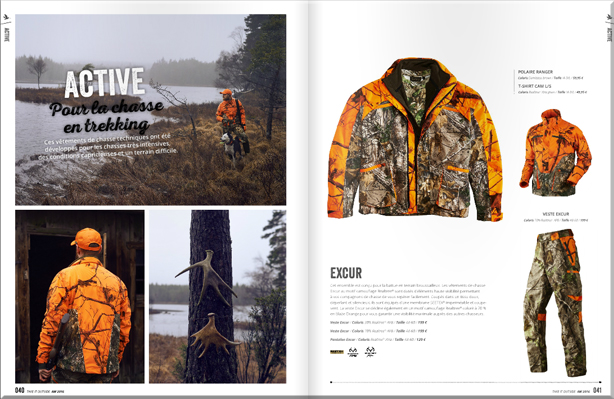 Excur veste de chasse seeland catalogue 2016